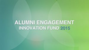 Slovak Fulbright Alumni Association winner 2015